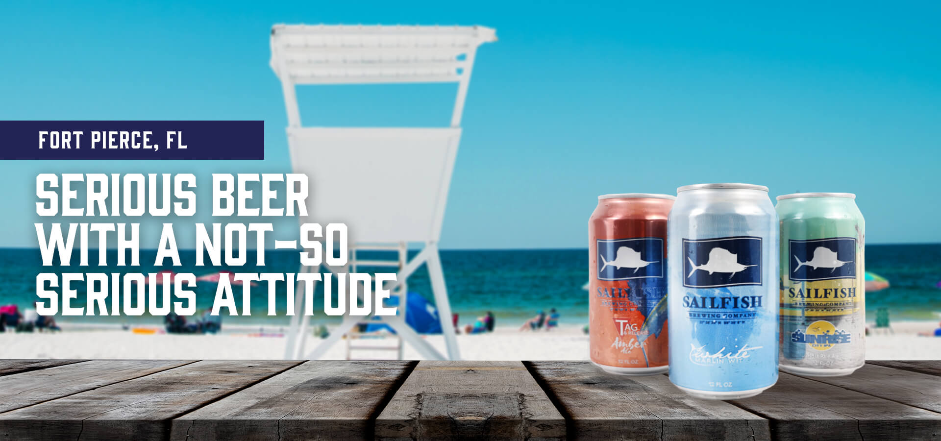 Sailfish Brewery Cans in Fort Pierce
