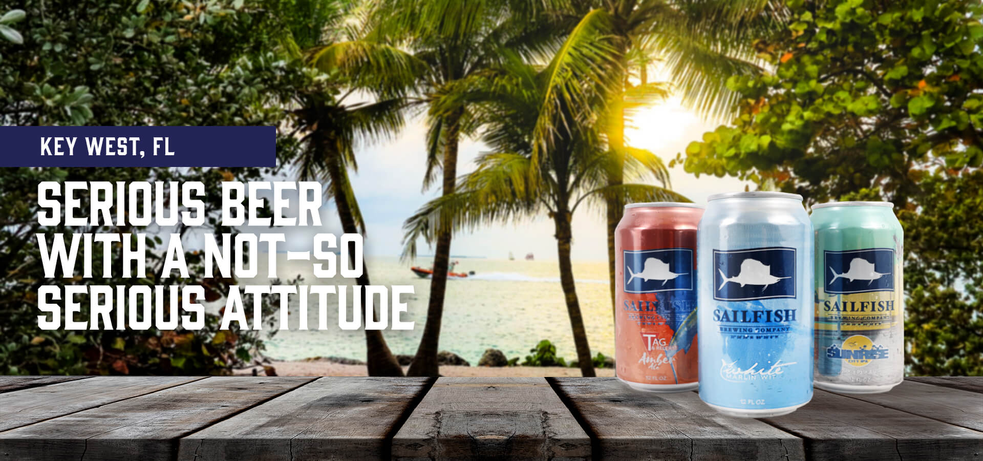Sailfish Brewery Cans in Key West